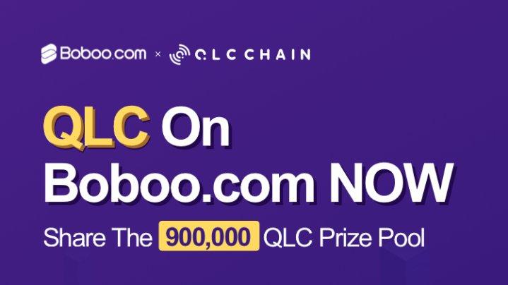 「Boboo」4/2 QLCトークン上場記念 900,000QLCのエアドロップ開催!