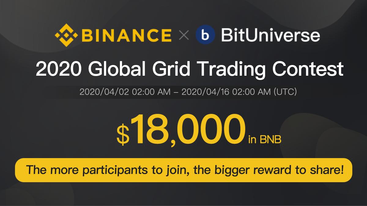 「Binance x BitUniverse」新規参加で最大$15のBNBが全員もらえる!賞金$3000のトレーディングコンテスト開催!