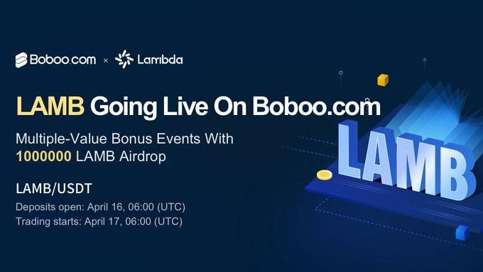 「Boboo」BOBTホルダーに500000LAMBのエアドロップボーナス