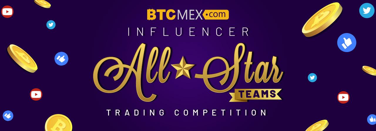 「BTCMEX」オールスター・トレードコンペ【チーム戦】4/15までの登録で$30もらえる!