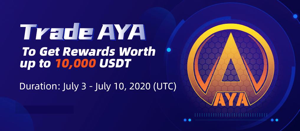 「CoinEx」AYAを取引して最大10,000 USDT相当の報酬を獲得