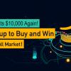 「KuCoin」ビットコインが再び10,000ドルに!$2000シェアイベント
