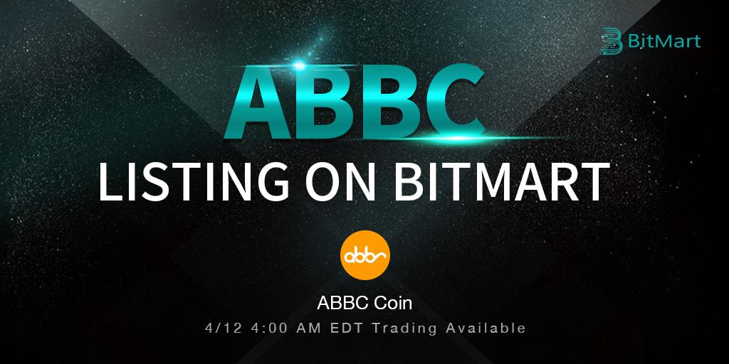 「BitMart」ABBC Coin(ABBC)をリスティング