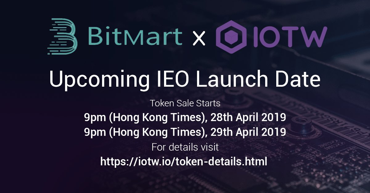 「BitMart」IOTWプロジェクト プライベートセール
