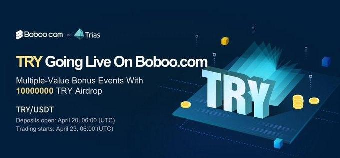 「Boboo」BOBTホルダーに100,000TRYのエアドロップボーナス