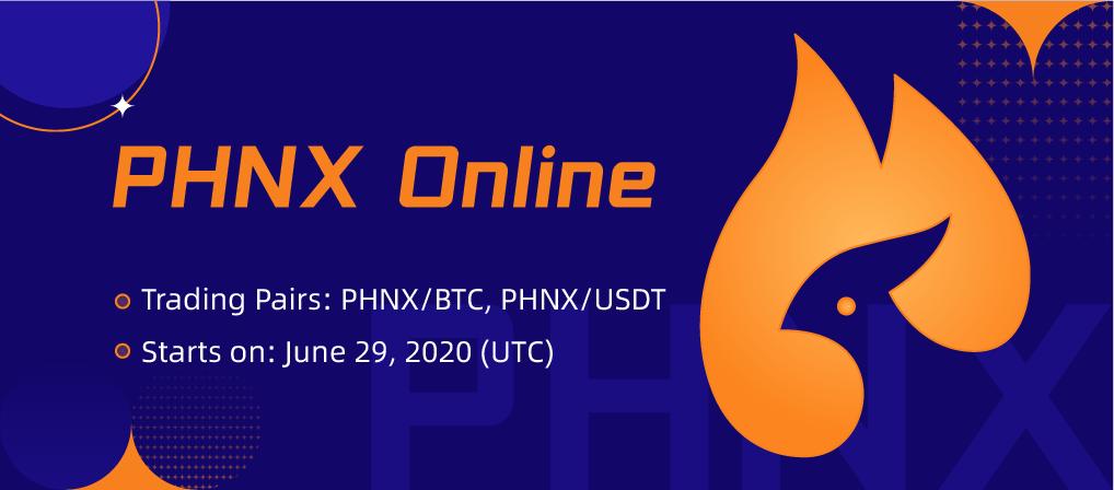 「CoinEx」PHNX上場記念!入金と取引で250,000のPHNXを山分け!