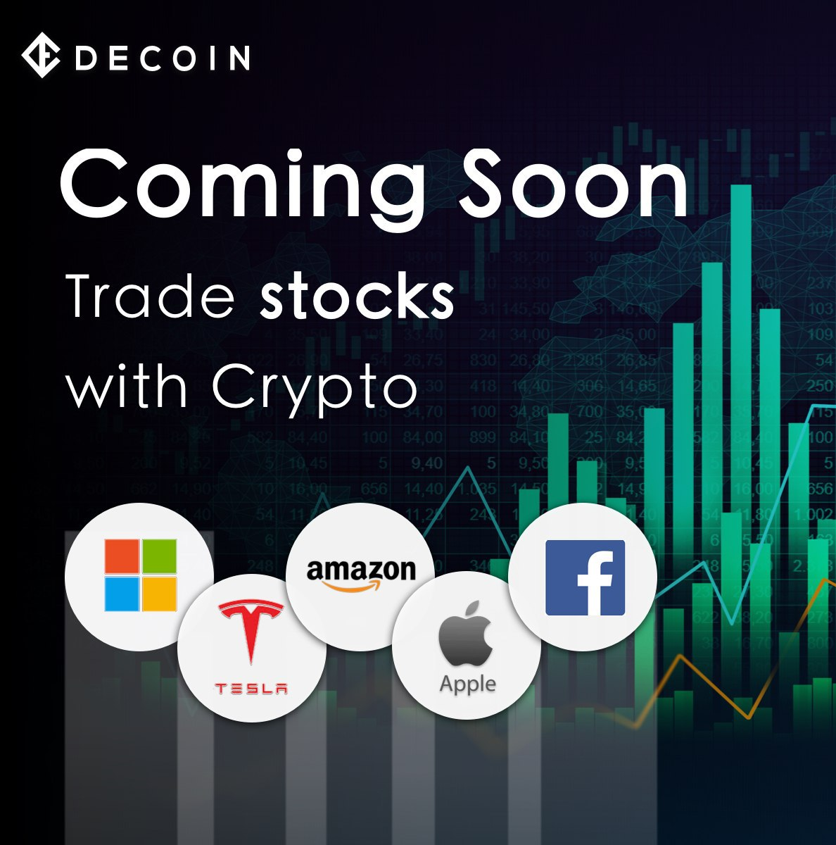 「DECOIN」独自通貨DTEPが好調!まもなく暗号通貨で株式売買提供も開始