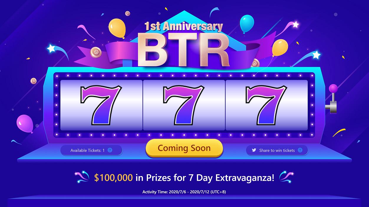 「Bitrue」新規登録でスロットチケットが必ずもらえる!総額$100,000の1周年記念イベント